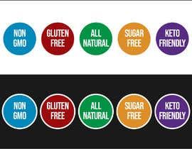 freelancerthebes tarafından create icons for my sales page e.g NON GMO, GLUTEN FREE, SUGAR FREE etc - 21/06/2019 06:47 EDT için no 15
