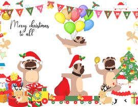 #9 for Christmas cards with comical mischievous boxer puppies . by saharwaris1