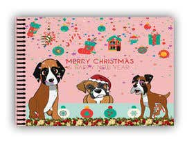#11 for Christmas cards with comical mischievous boxer puppies . by saharwaris1