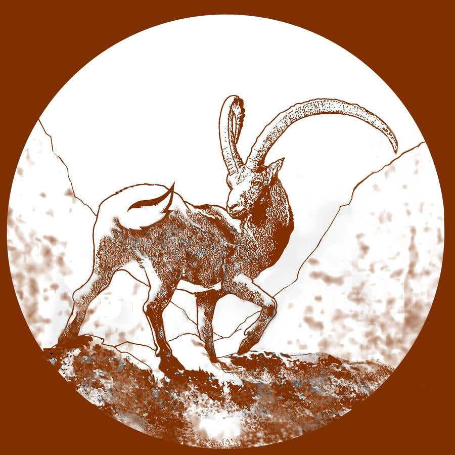 Contest Entry #83 for Need a line(brown) sketch of the animal Himalayan Ibex done, looking at it from behind