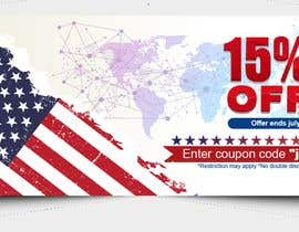 #179 pentru 4th Of july banner de către PixelDesign24