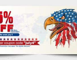 #180 pentru 4th Of july banner de către PixelDesign24