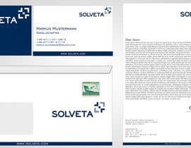 #58 untuk Letterhead, Envelopes, Business Cards and more for Solveta oleh F5DesignStudio
