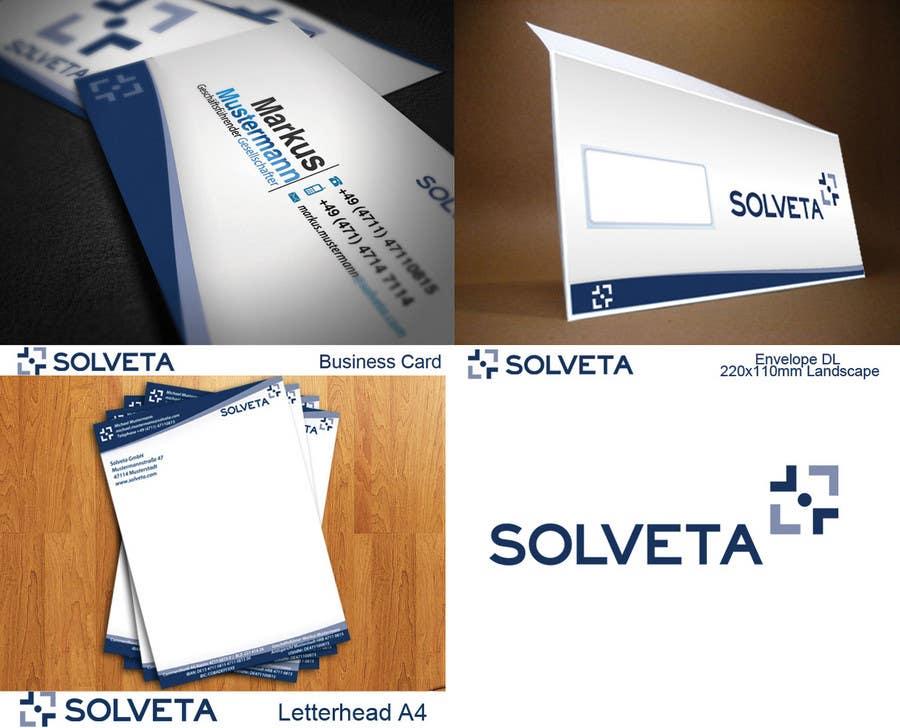 Kilpailutyö #                                        4                                      kilpailussa                                         Letterhead, Envelopes, Business Cards and more for Solveta