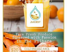 #4 untuk Clean fresh and bright looking flyer created for cold pressed juices. With a loyalty card buy 10 get the 11th juice free oleh tabitaprincesia