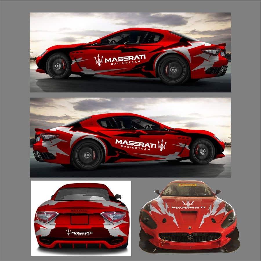 Kilpailutyö #44 kilpailussa Maserati Racing Team - Corporate Identity