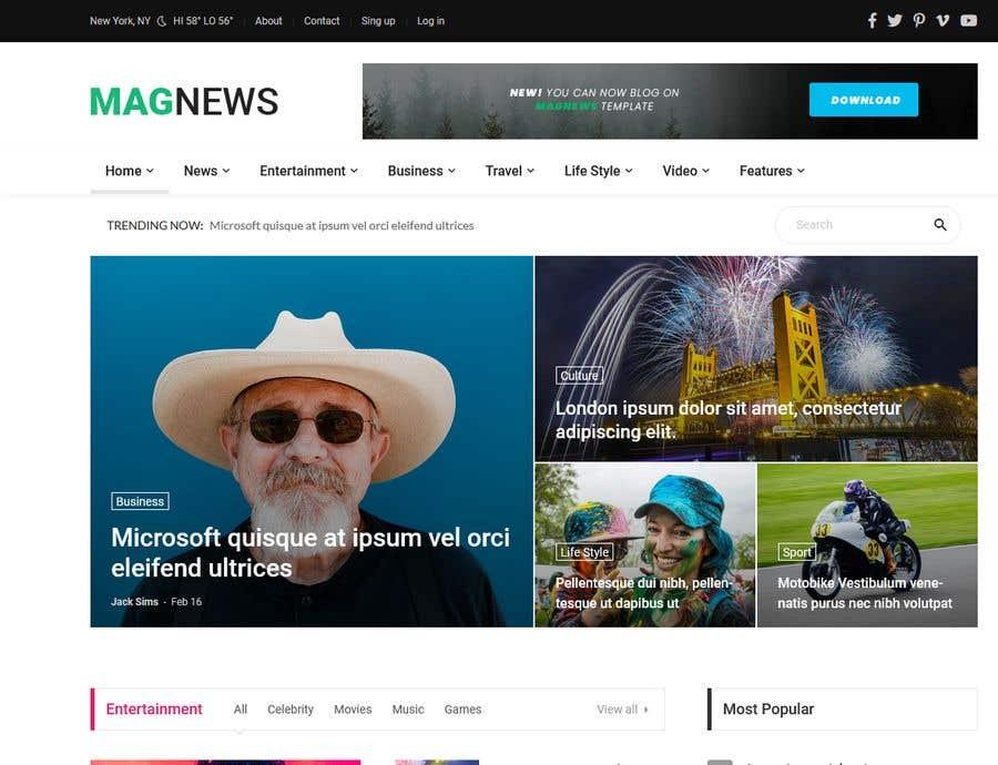 Kilpailutyö #6 kilpailussa Upgrate my website's graphic design