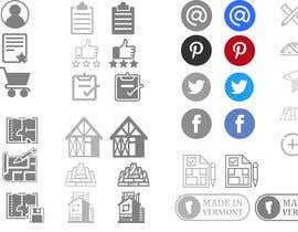 #6 for Custom Icon Set for Website by david9644