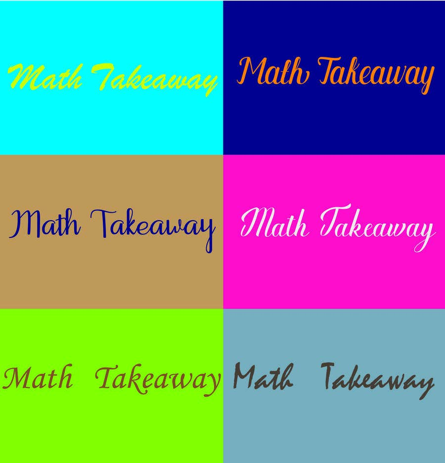 Konkurrenceindlæg #47 for I need a logo design for Math Takeaway and an app icon. Math Takeaway is a Math app that students can practise Math questions on-the-go, while travelling to and fro school, etc