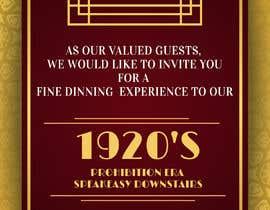 #21 for Speakeasy Invitation af LokeshSharma0204