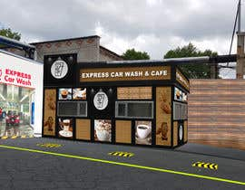 #29 for Exterior design of a coffee kiosk combined with car wash by jaybheda