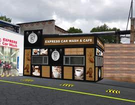 nº 29 pour Exterior design of a coffee kiosk combined with car wash par jaybheda