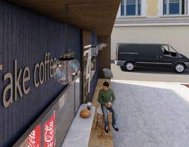nº 5 pour Exterior design of a coffee kiosk combined with car wash par mohammedsarwaa