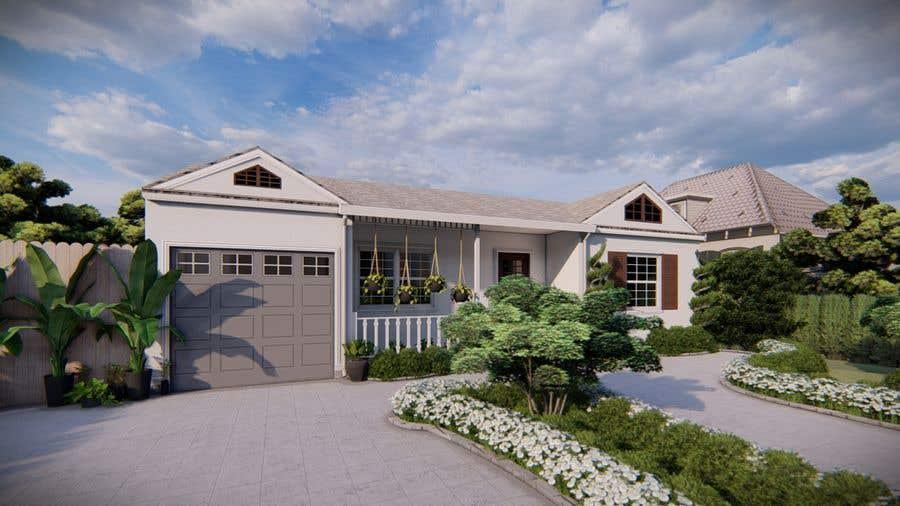 Bài tham dự cuộc thi #                                        25                                      cho                                         3D Renderings House Front Elevation