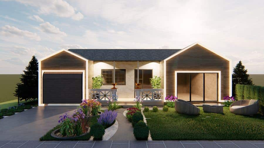 Bài tham dự cuộc thi #                                        38                                      cho                                         3D Renderings House Front Elevation