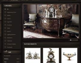 #28 for Home Page Mockup For Antique Store Website by dpswain