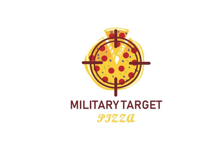 Конкурсная заявка №7 для Military target pizza logo