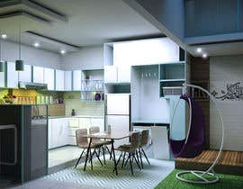 #4 para Interior redesign and plant redistribution for kitchen, dining and living room de redonionars