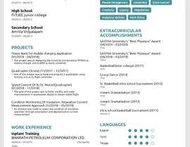 #54 for Update my Resume Design by naren20ganapathy