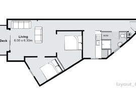 Nro 37 kilpailuun Re-design an apartment käyttäjältä oarseni