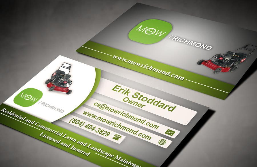 Bài tham dự cuộc thi #                                        7                                      cho                                         Design some Business Cards for Lawn Care Business