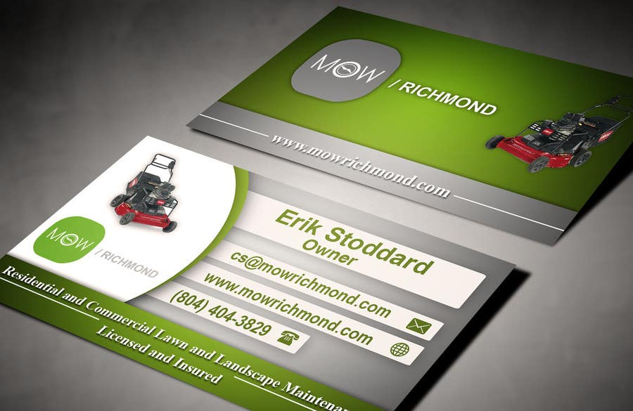 Bài tham dự cuộc thi #                                        8                                      cho                                         Design some Business Cards for Lawn Care Business