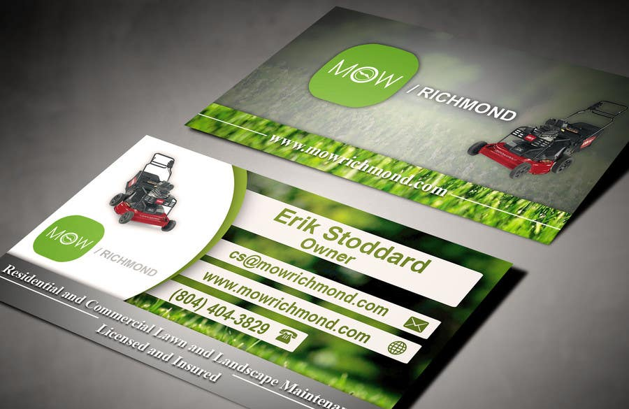 Bài tham dự cuộc thi #                                        10                                      cho                                         Design some Business Cards for Lawn Care Business