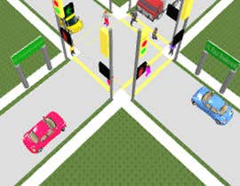 #47 for Graphic Design of a road way and people crossing the road by sonnybautista143