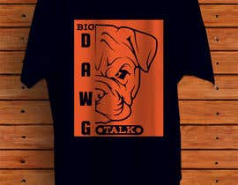 #38 для I need a colorful clean graphic of a dog face similar to the attached for T-shirt. Underneath graphic should read BigDawgTalk от arafindipto
