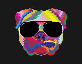 nº 6 pour I need a colorful clean graphic of a dog face similar to the attached for T-shirt. Underneath graphic should read BigDawgTalk par dewanashik333