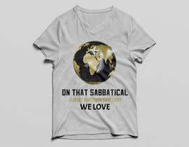 #35 для I need a travel symbol that black and gold globe with a black plane flying around the globe.    Shirt text (On That Sabbatical Journey Pursuing Something We Love. от muhammadjubaear