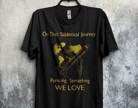 #28 для I need a travel symbol that black and gold globe with a black plane flying around the globe.    Shirt text (On That Sabbatical Journey Pursuing Something We Love. от SagorAhmed96