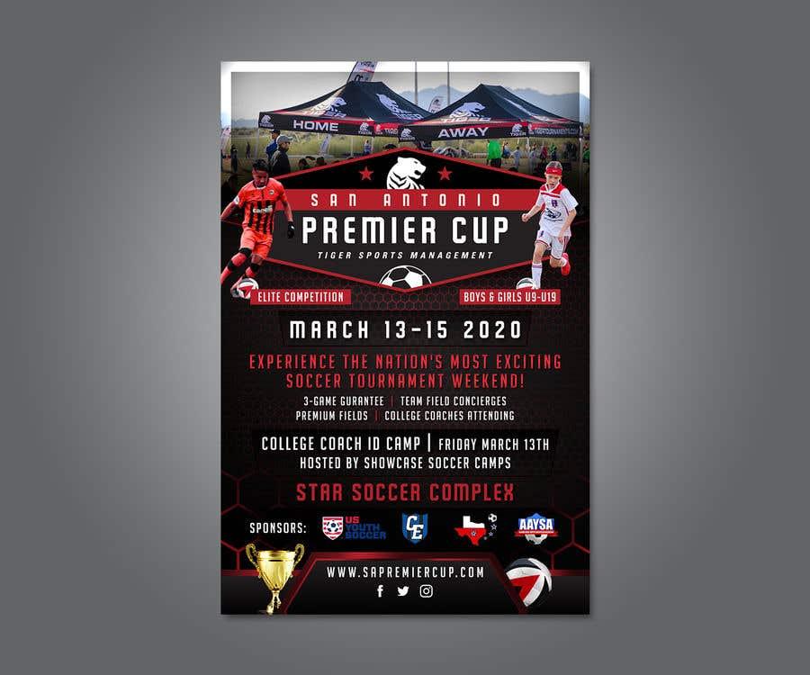 Penyertaan Peraduan #58 untuk Looking to have soccer tournament flyers done