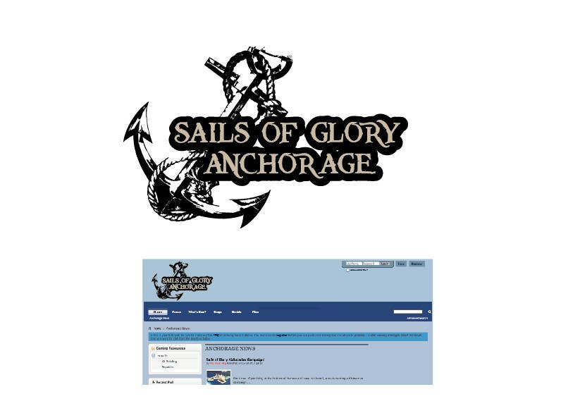 #5 for Sails of Glory Anchorage logo by marijoing