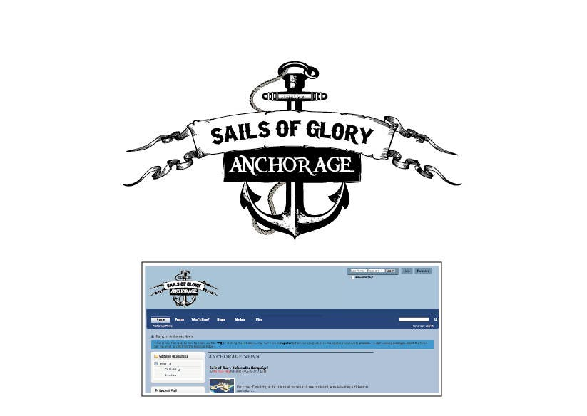 #6 para Sails of Glory Anchorage logo de marijoing