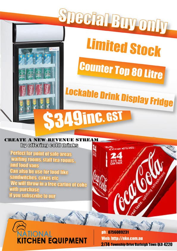 Bài tham dự cuộc thi #                                        7                                      cho                                         Flyer Design for Counter Top Display Fridge
