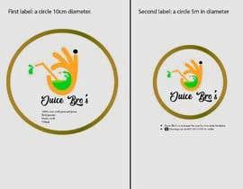 #2 для Design 2 labels for a juice glass bottle от RehmanDurrani76