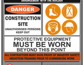 #4 untuk Construction Site Safety Sign oleh HorizonSD