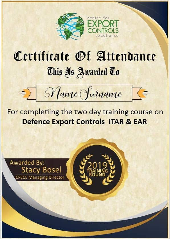 Contest Entry #32 for Certificate of Attendance Template