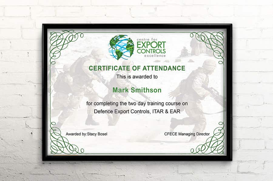 Contest Entry #17 for Certificate of Attendance Template