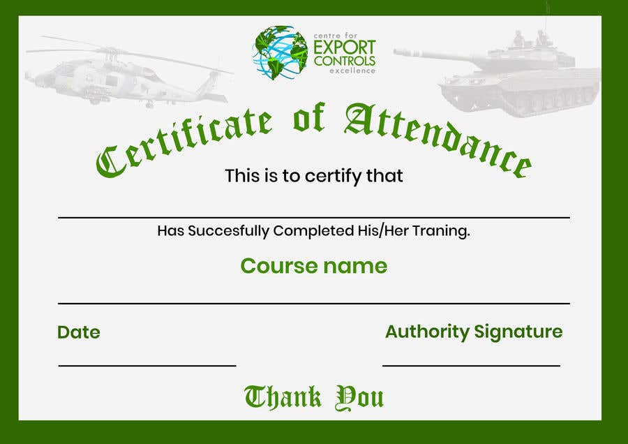 Contest Entry #22 for Certificate of Attendance Template