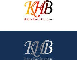 #13 untuk I am a hair company that sell hair. The name of my hair company is KHB (Kitha Hair Boutique). I need a logo design I want the letter KHB to stand out. I prefer colors Pink, Gold, & Black or Red, Gold, & Black. oleh wisnudewe