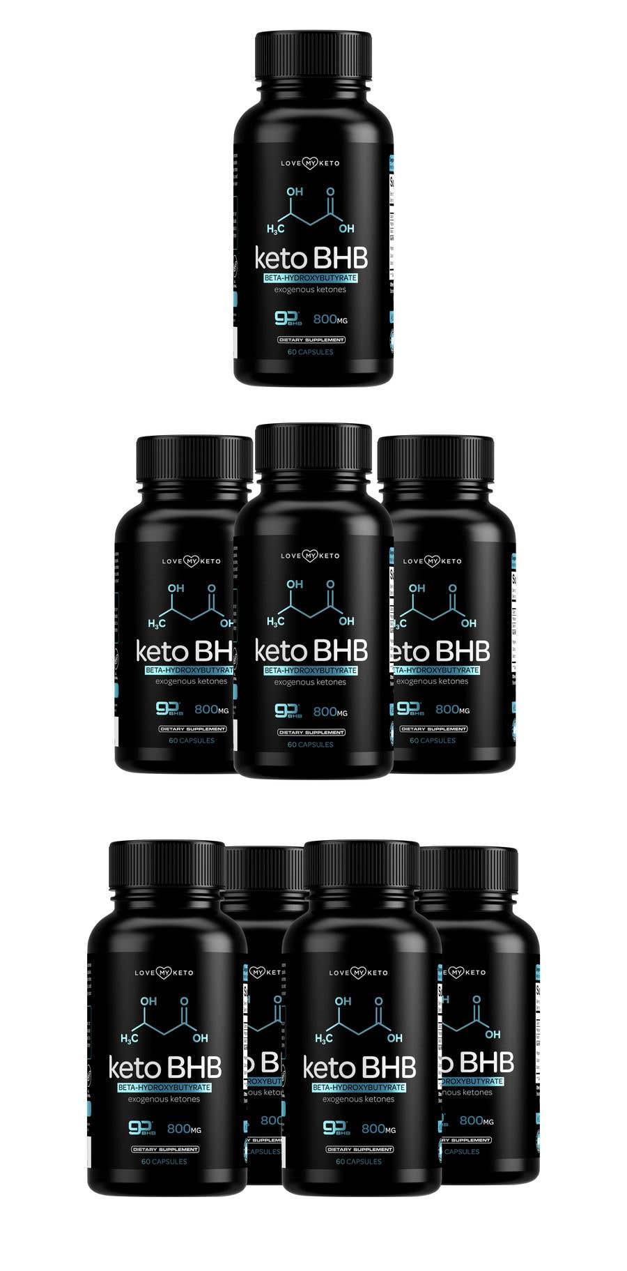 """Konkurrenceindlæg #24 for create product images for my keto supplement website """"1 bottle"""" """"3 bottles"""" """"4 bottles"""""""