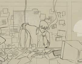 Nro 33 kilpailuun Illustrate A Lo-fi/Anime Style Graphic For Youtube käyttäjältä Sleemsayshey