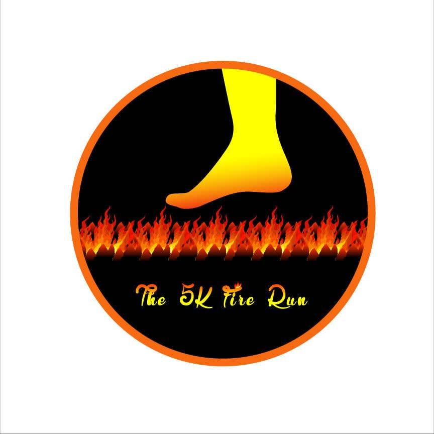 "Contest Entry #12 for Need a fake logo for the ""The 5K Fire Run"" where people race on hot coals and fire in their bare feet"