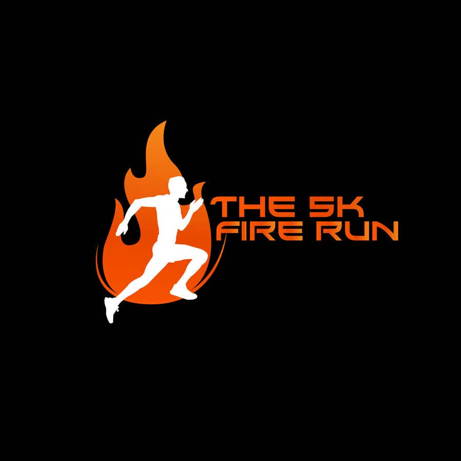 """Contest Entry #14 for Need a fake logo for the """"The 5K Fire Run"""" where people race on hot coals and fire in their bare feet"""