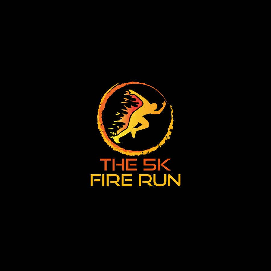 "Inscrição nº 15 do Concurso para Need a fake logo for the ""The 5K Fire Run"" where people race on hot coals and fire in their bare feet"