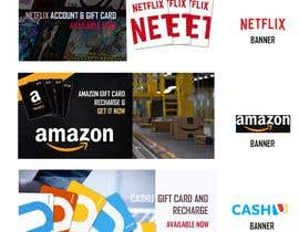#9 для 3 Banners for my online gift card store от naqiudinmuhd