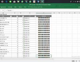 Nro 34 kilpailuun Excel - convert numbers into scanable UPC A & E käyttäjältä Widiandika14