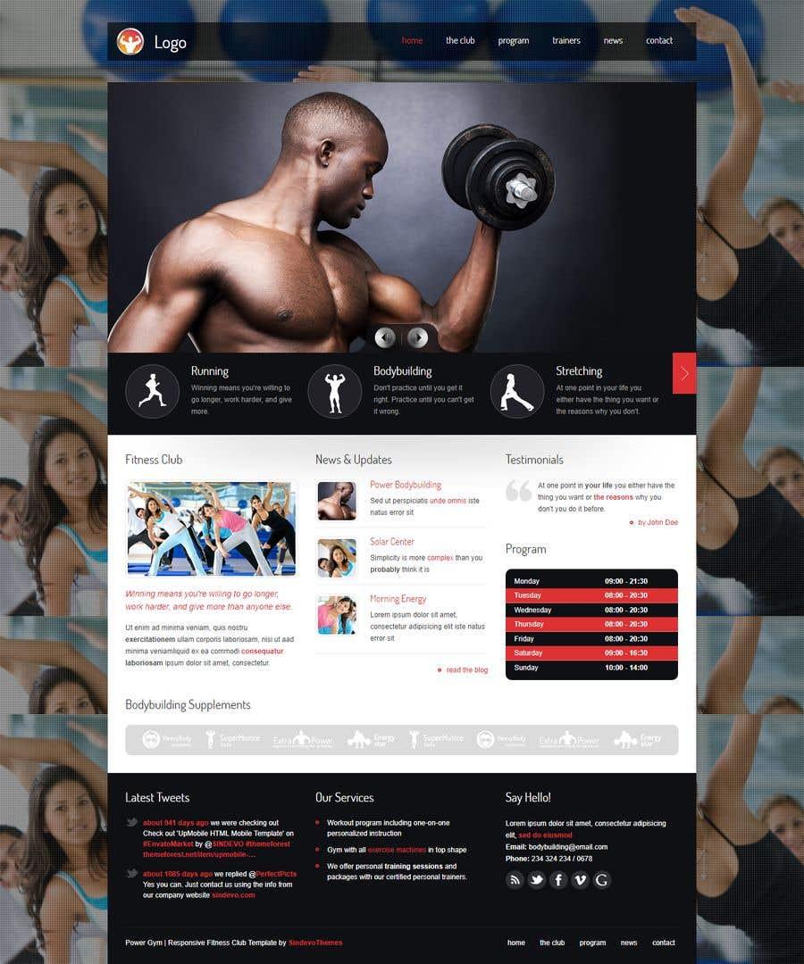 Kilpailutyö #90 kilpailussa Redesign home page website